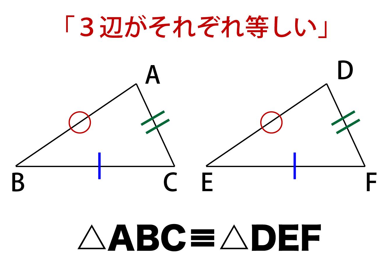 3辺がそれぞれ等しい