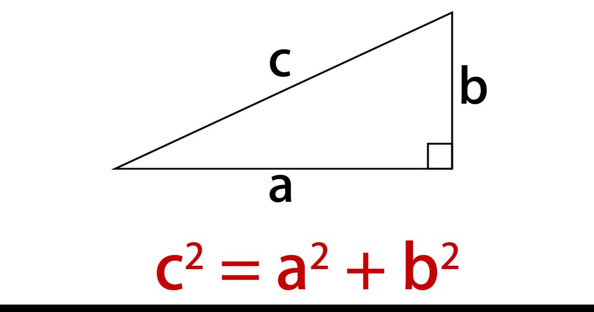 三平方の定理の基本的な図と公式