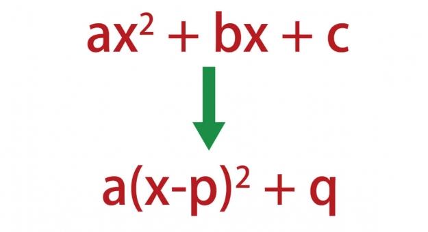 平方完成のやり方4ステップ!二次関数のグラフの頂点がすぐ分かる記事!