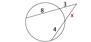 方べきの定理練習問題の画像