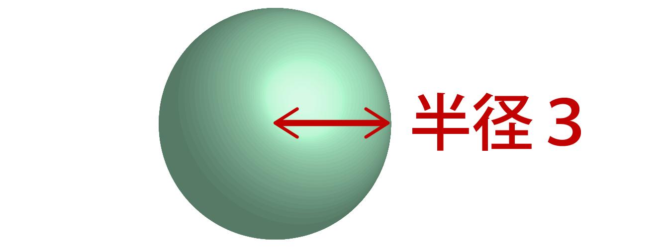 球の体積に関する問題の画像