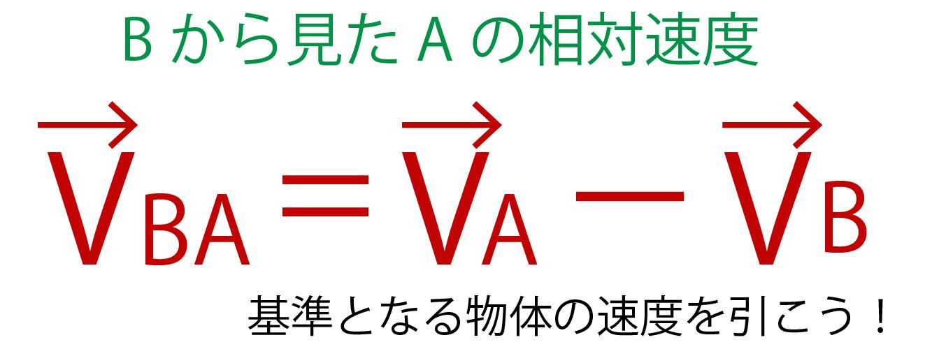 相対速度の公式