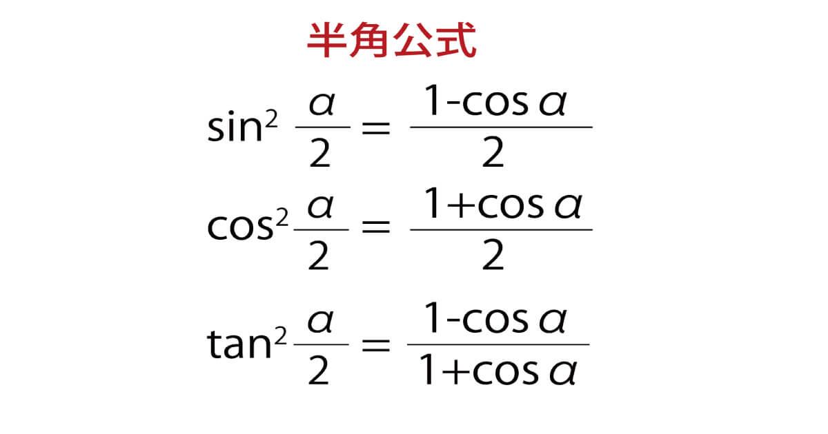 半角公式のイメージ