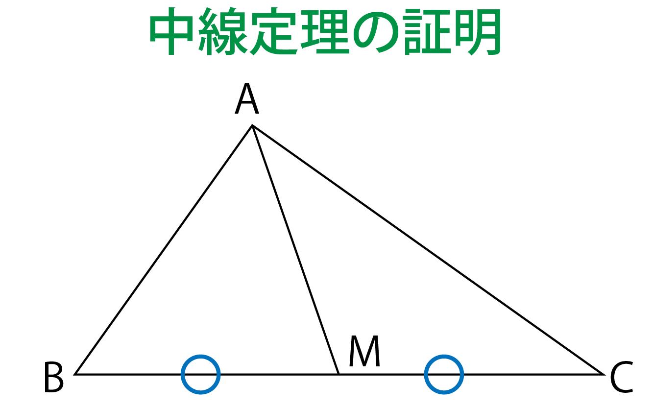 中線定理の証明解説画像