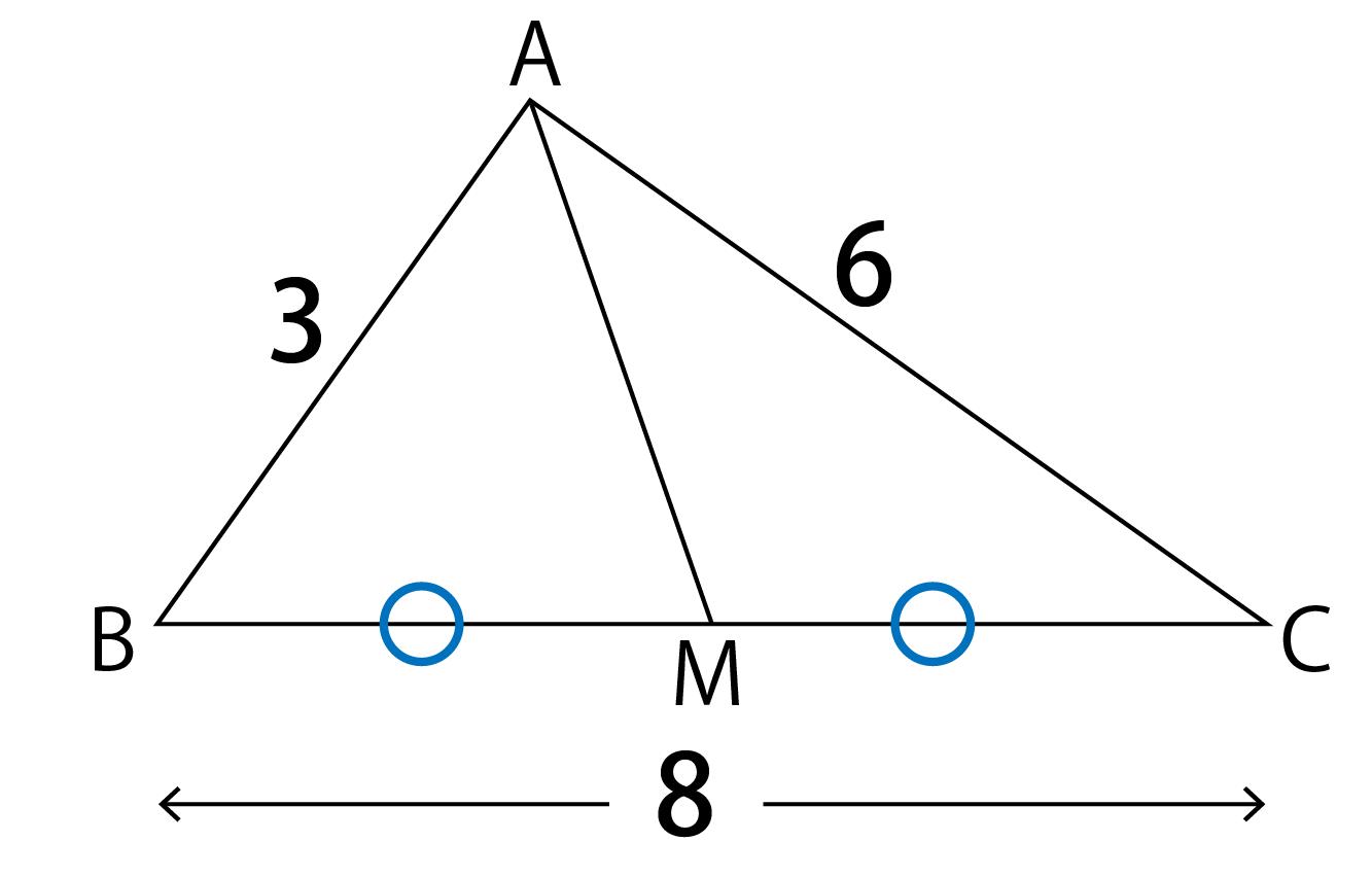 中線定理 三角形ABC