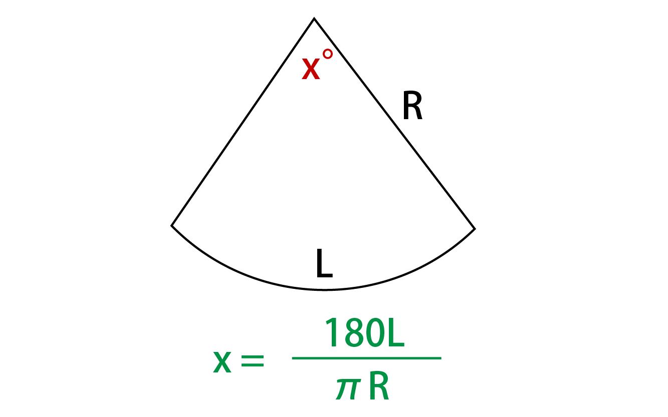 中心角の求め方の公式