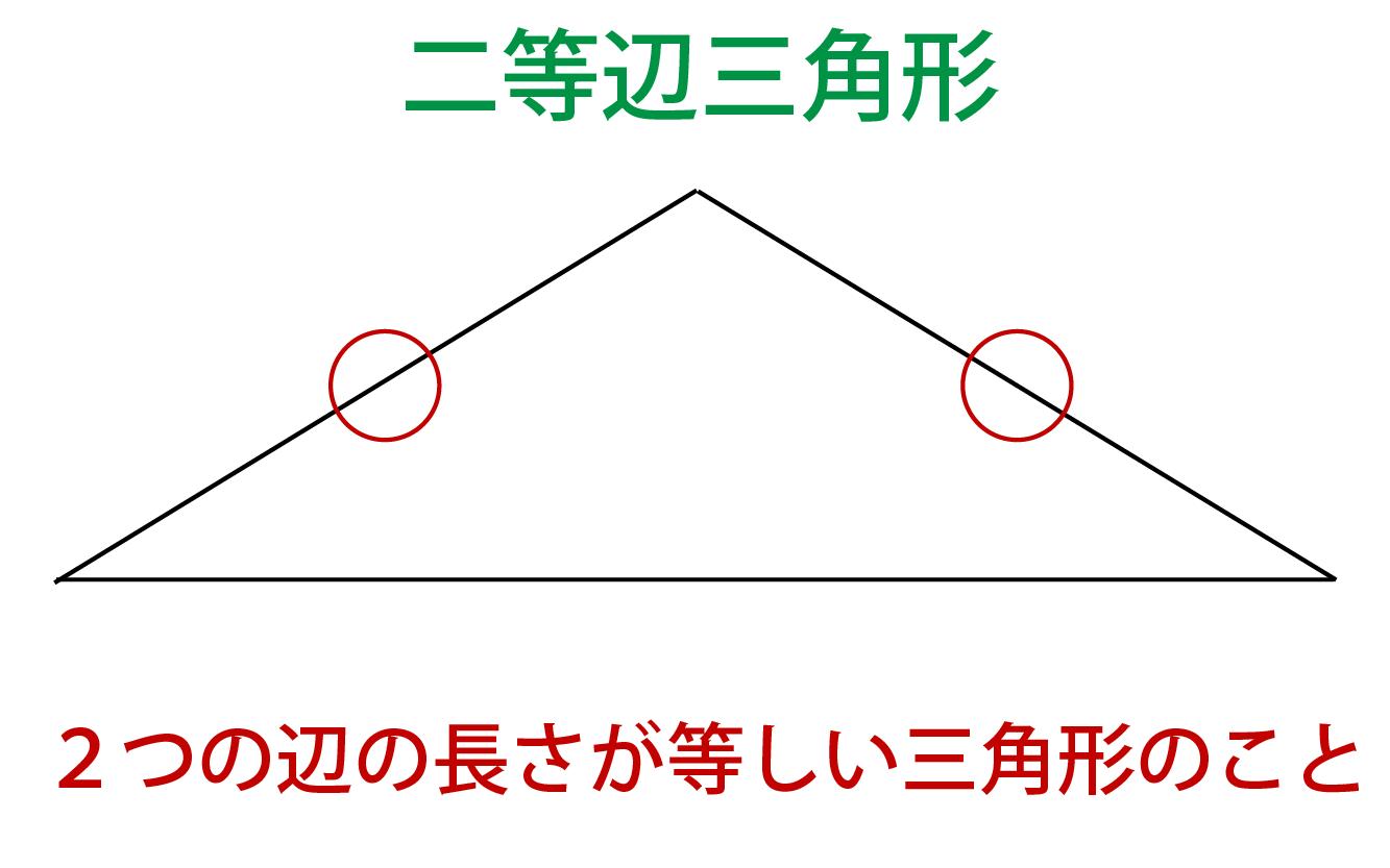 二等辺三角形の定義