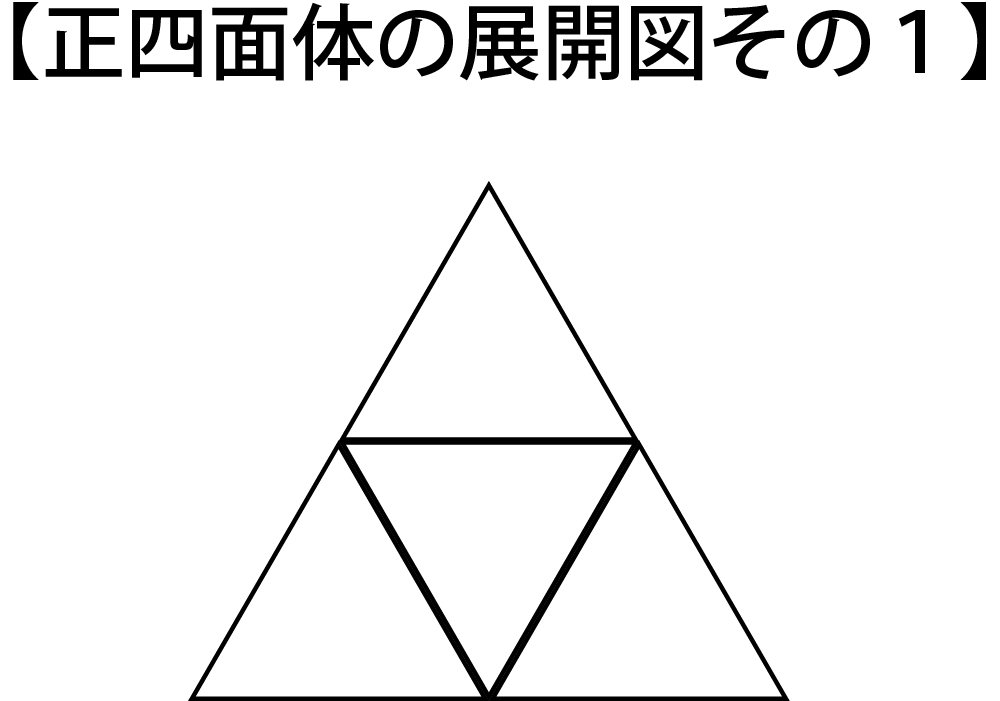 正四面体の展開図