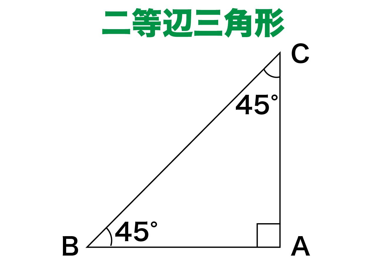 直角二等辺三角形の定義