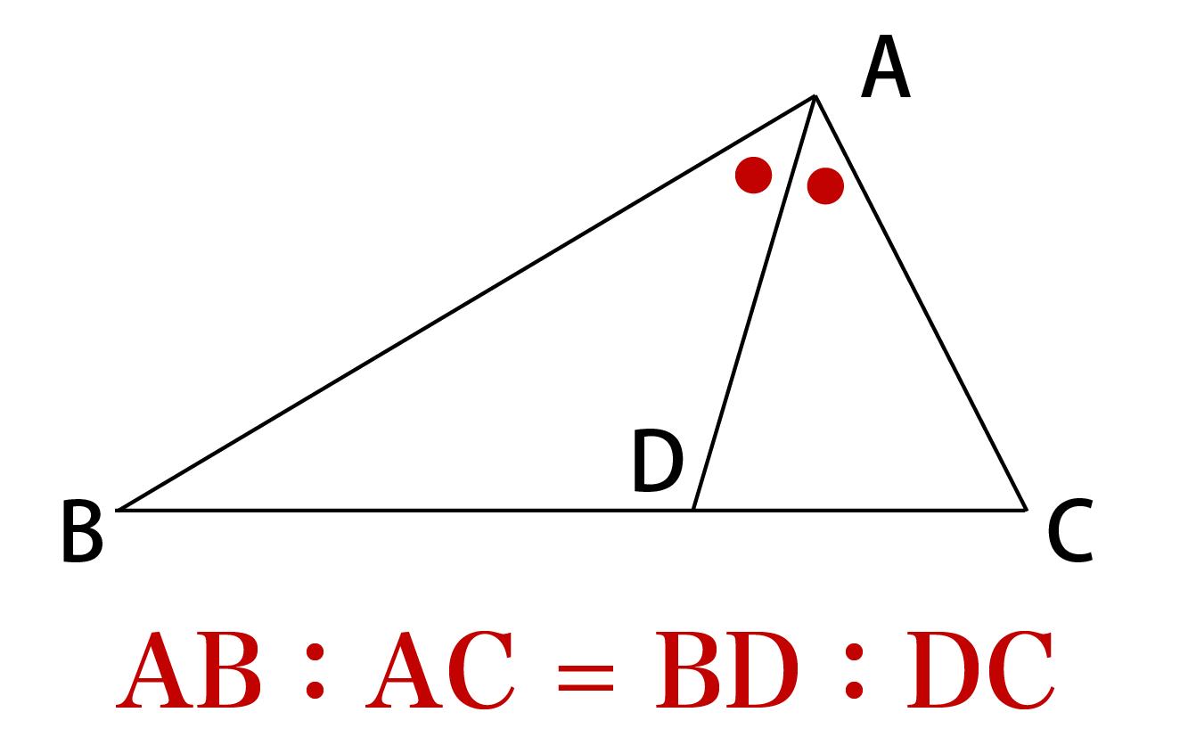 角の二等分線の定理