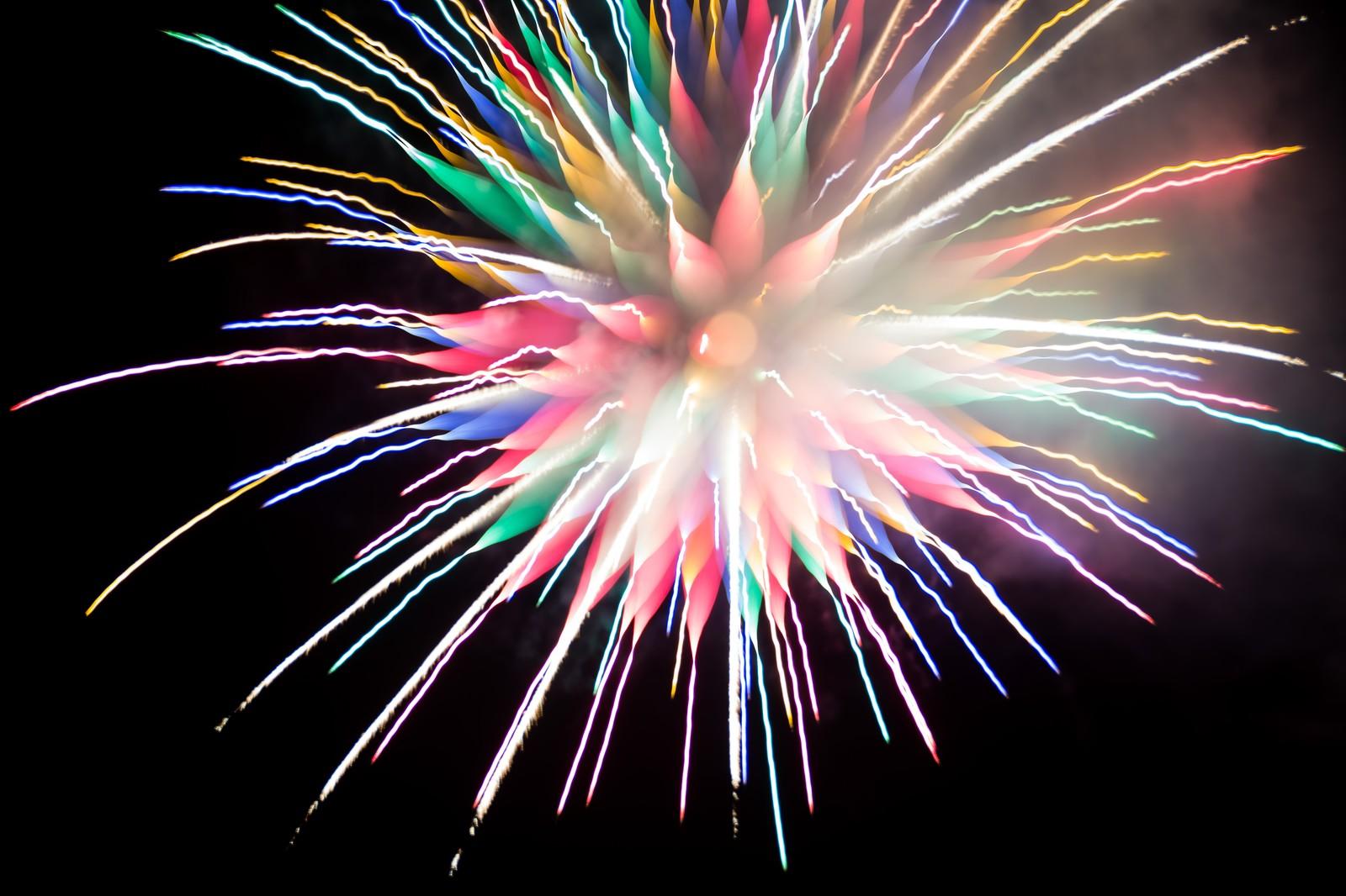 炎色反応を用いたカラフルな花火