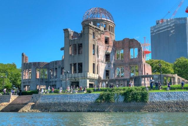 原爆ドーム終戦記念日