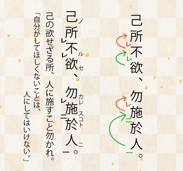 高校漢文の返り点の付け方の説明の解答