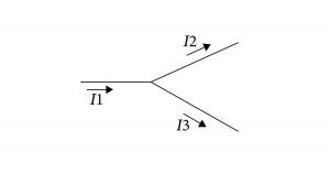 キルヒホッフの第1法則 電気回路の任意の分岐点 T字