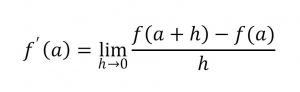 微分係数の公式