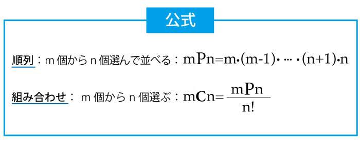 順列と組み合わせの公式