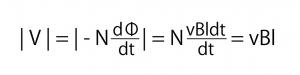 誘導起電力 数式