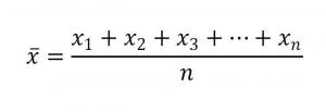 度数分布表の記事画像③平均値の計算
