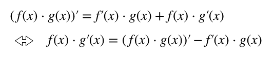 部分積分の公式の導出