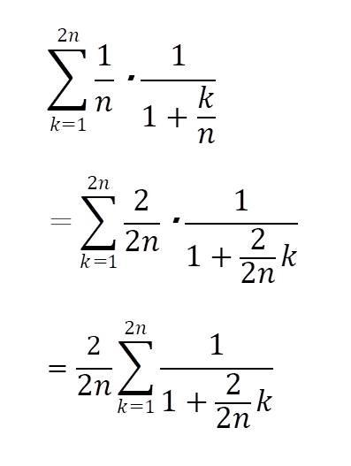区分求積法の例題2の解答と解説2