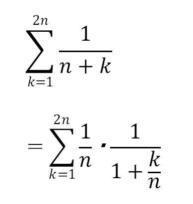 区分求積法の例題2の解答と解説