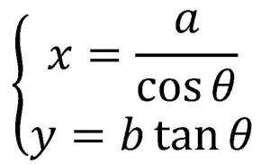 双曲線の媒介変数表示
