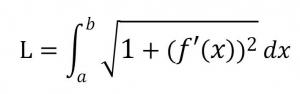 曲線の長さの積分(弧長積分)の媒介変数表示されていない場合の公式