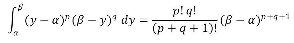 部分積分を用いたβ(ベータ)関数の証明