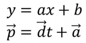 直線の方程式とベクトルの方程式の関係