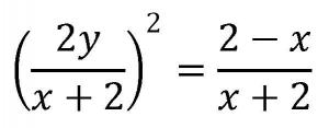 曲線の媒介変数表示の例題の式の答え