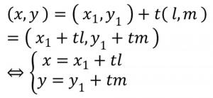 ベクテルの方程式の式
