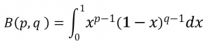 ベータ関数の定義