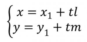 直線の媒介変数表示