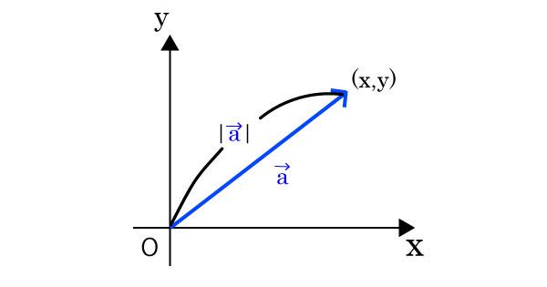 ベクトルの大きさを表した図