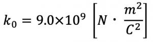 静電気力に関するクーロンの法則