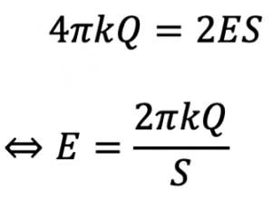 円柱内の電気量