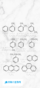 芳香族化合物(ベンゼン)のスマホ壁紙(ロック画面)